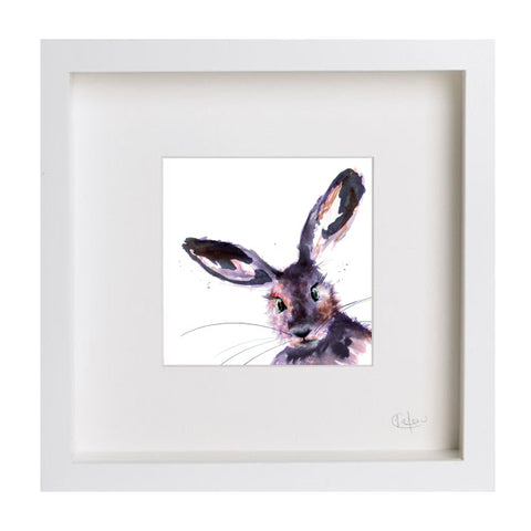 Inky Hare Illustration Print by Kate Moby on OOSTOR.com