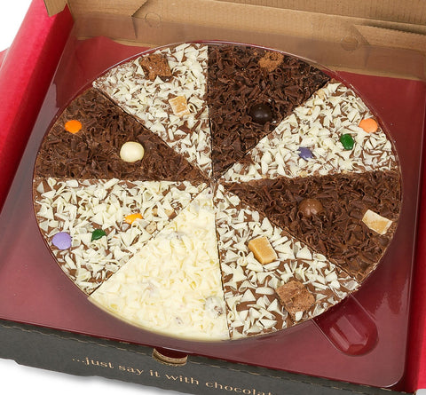 "Delicious Dilemma 10"" Gourmet Chocolate Pizza by The Gourmet Chocolate Pizza Company Ltd on OOSTOR.com"