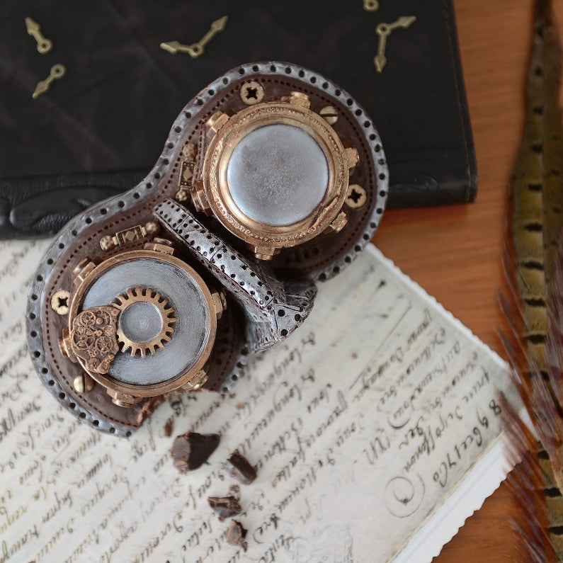 Chocolate Steampunk Goggles by Bundled Gifts on OOSTOR.com