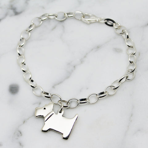 Scottie Dog Sterling Silver Bracelet