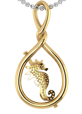 Seahorse - symbolising power and strength by My-Wishbone Jewellery on OOSTOR.com