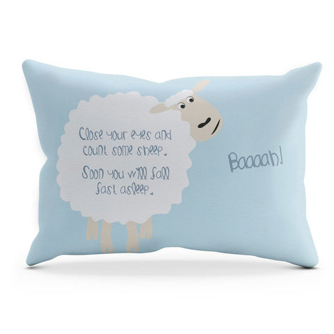 COUNTING SHEEP CUSHION – BLUE