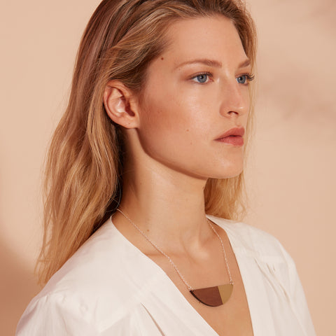 The Alexandra - Brass Necklace by form.london on OOSTOR.com