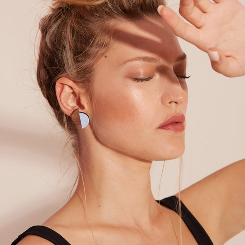The Claire - Peaceful Blue Stud Earrings by form.london on OOSTOR.com