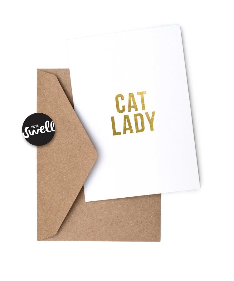 CAT LADY | Hey, Lady Card by Swell Made Co on OOSTOR.com