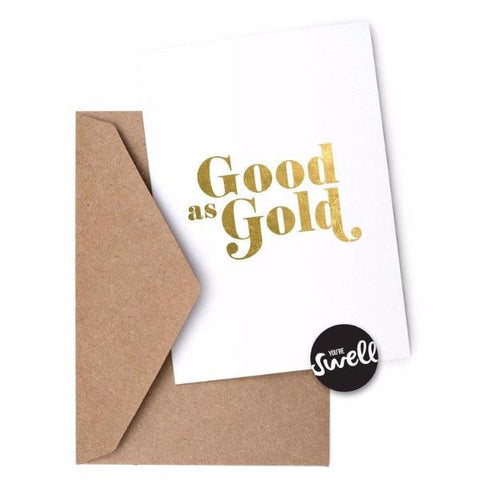 Good As Gold Card