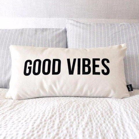 Good Vibes Pillow by Swell Made Co on OOSTOR.com