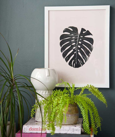 Monstera Leaf Print by Swell Made Co on OOSTOR.com