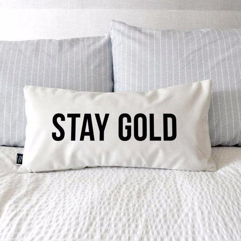 Stay Gold Pillow by Swell Made Co on OOSTOR.com