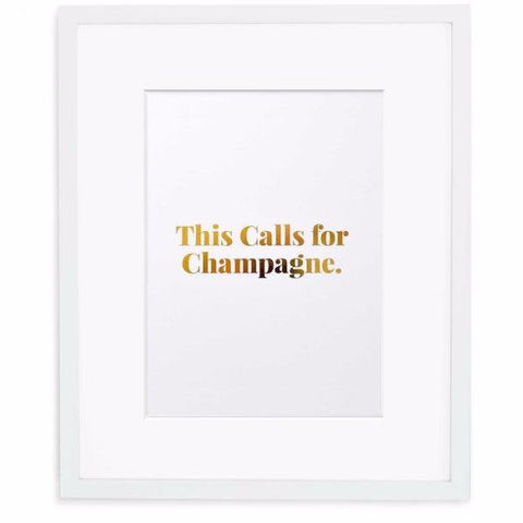 This Calls For Champagne Print by Swell Made Co on OOSTOR.com