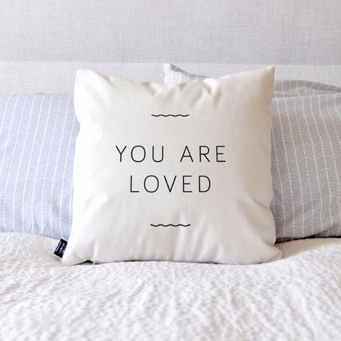 You Are Loved Cushion by Swell Made Co on OOSTOR.com