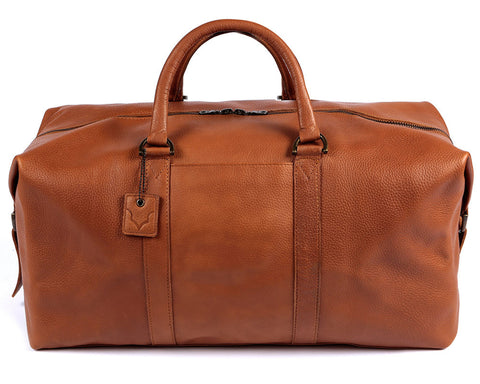 Archie's Duffle - Caramel Tan - With Side Pocket