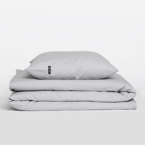 Light Grey Pure Cotton Duvet Cover by HOP Design on OOSTOR.com