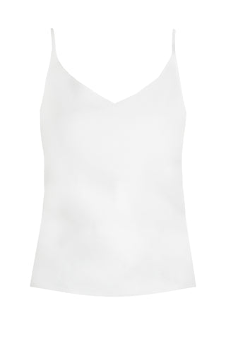 Top in White Viscose Silk by Bombshe