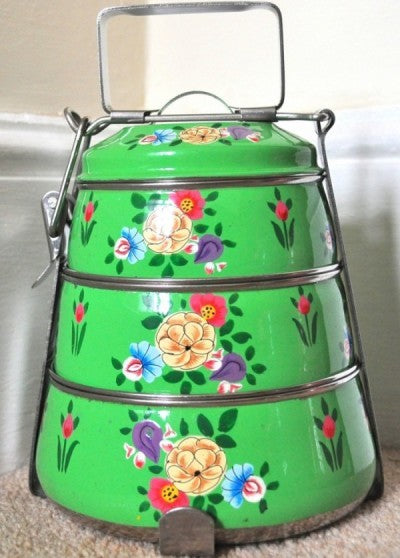 Green Enamelware Tiffin Pot by Jasmine White on OOSTOR.com