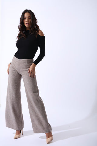 Sahara Cashmere Wool Trousers by Zalinah White on OOSTOR.com