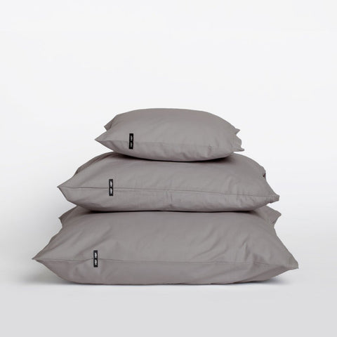 Set of 2 Dark Grey Pure Cotton Pillow Cases by HOP Design on OOSTOR.com