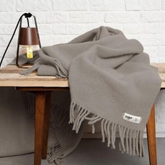 Earth Grey YETI - Pure Wool Blanket by HOP Design on OOSTOR.com