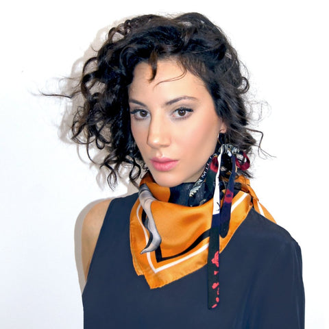 Merle Orange Scarf by Emilia Mala on OOSTOR.com