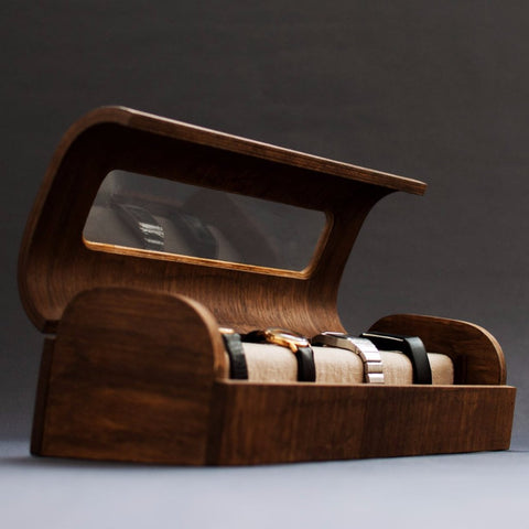 Modern Wooden Watch Box by Oitenta on OOSTOR.com