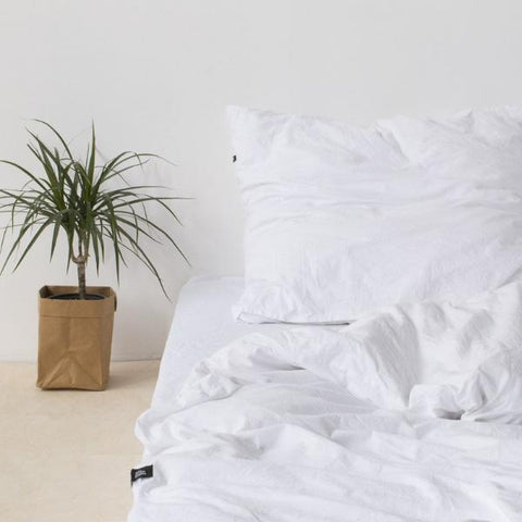 Pure White Pure Cotton Flat Bed Sheet by HOP Design on OOSTOR.com