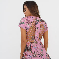 Pink Flora Dress by Wired Angel Ltd on OOSTOR.com