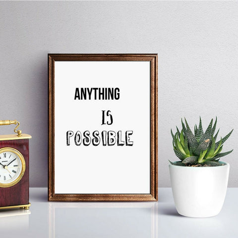 Anything Is Possible Print by Proper Job Studio on OOSTOR.com
