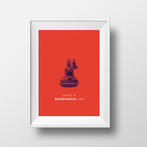 Buddhaful Day Print by Action Zebra on OOSTOR.com