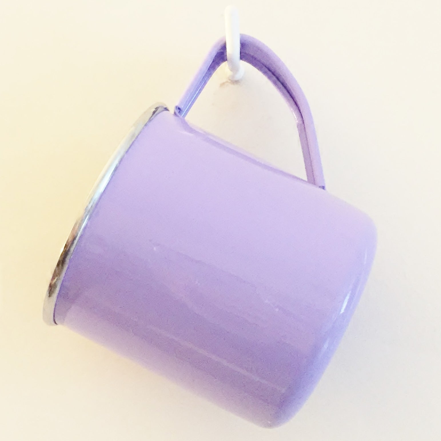Lilac Enamelware Mug by Jasmine White on OOSTOR.com
