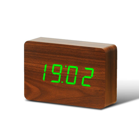 Brick Click Clock by Gingko Walnut