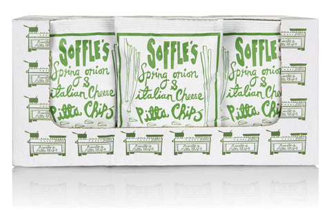 Soffle's Pitta Chips - Spring Onion and Cheese 15x60g by Soffles on OOSTOR.com
