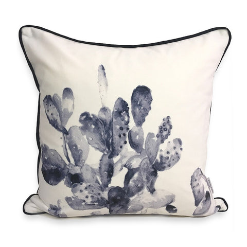 Cactus Moon Watercolour Print Cushion by Rosehip & Wild on OOSTOR.com