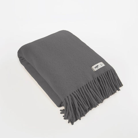 Charcoal Grey YETI - Pure Wool Blanket by HOP Design on OOSTOR.com