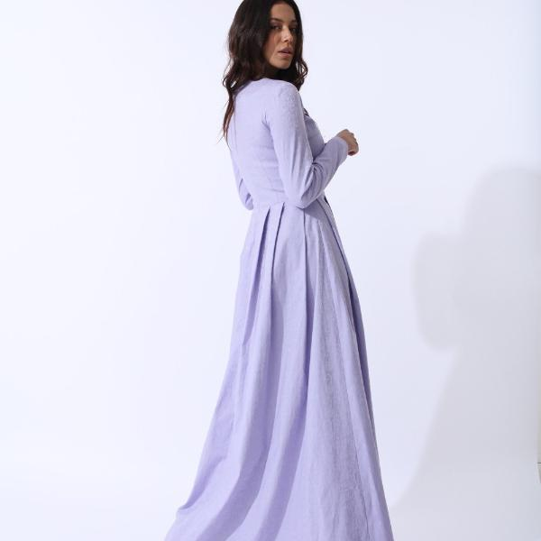 Lavender Maxi Dress With Dip Hem Skirt by Zalinah White on OOSTOR.com
