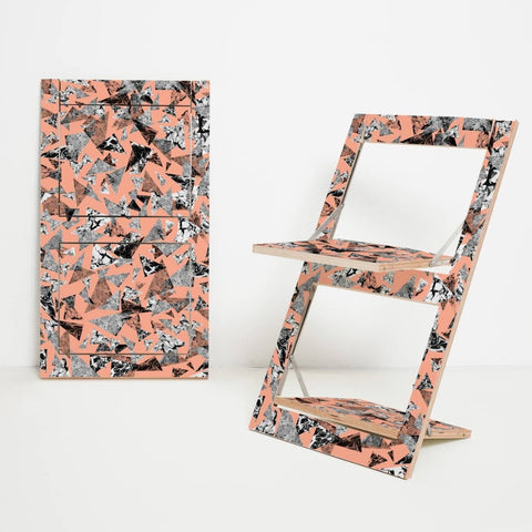 Fläpps Patterned Folding Chair by Ambivalenz on OOSTOR.com