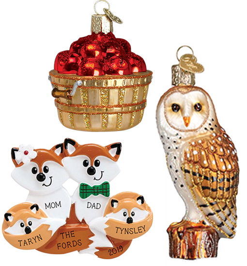 Fall Themed Christmas Ornaments