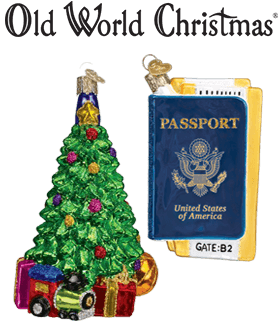Christmas Tree Ornament & Passport Ornament