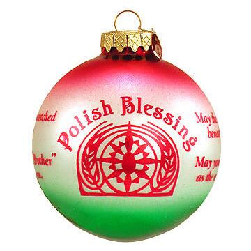 Polish Blessings Ornament for Christmas Tree