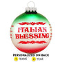 Italian Blessing Christmas Ornament