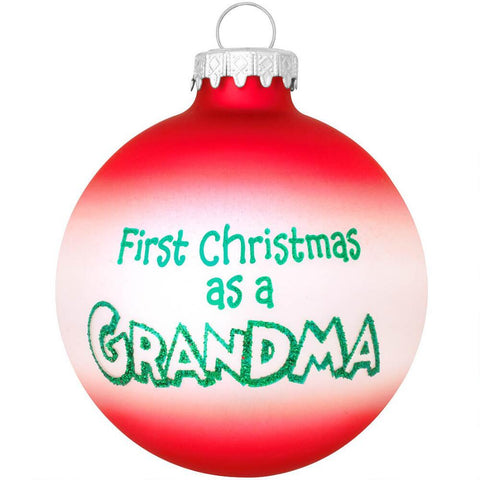 First Christmas as a Grandma Ornament for Christmas Tree