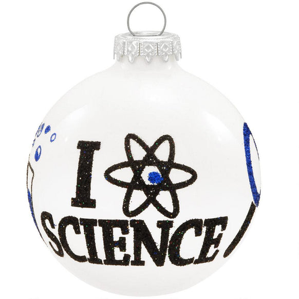 I Love Science Ornament for Christmas Tree