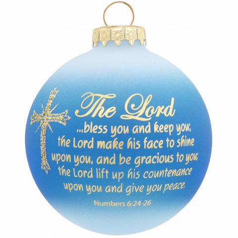 Benediction Cross Glass Ornament