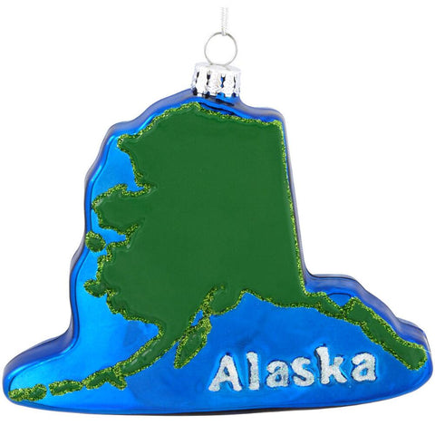 Alaska Shape Ornament for Christmas Tree
