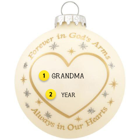 Forever In God's Arms Memorial Ornament For Christmas Tree