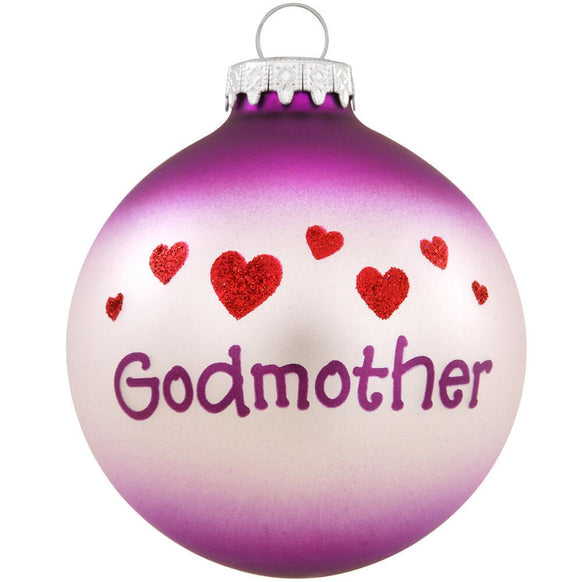 Godmother Glass Bulb Christmas Ornament