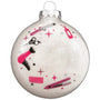 Hairstyling Glass Christmas Ornament