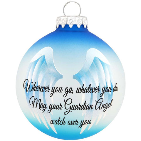 Guardian Angel Wings Glass Ornament