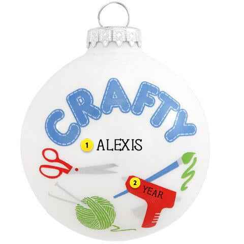 Crafty Glass Ornament