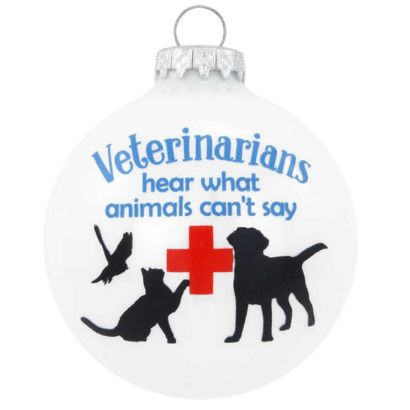 Veterinarian Glass Ornament