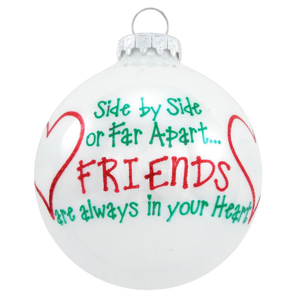 Side-by-Side Friends Ornament for Christmas Tree